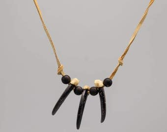 Realistic Wolf Claw Necklace : 3-claw (560-503)
