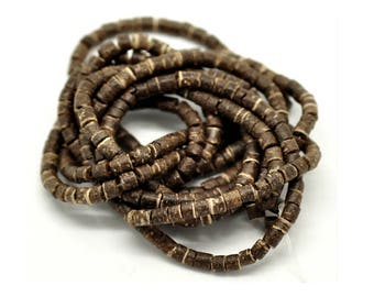 Set of 50 4 mm coconut beads
