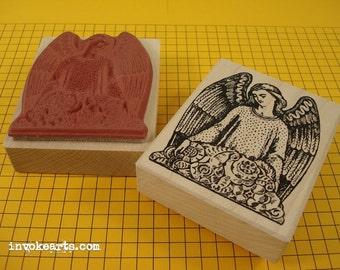 Angel's Gaze Stamp / Invoke Arts Collage Rubber Stamps