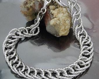Fantasy bracelet rhodium plated, silver 925