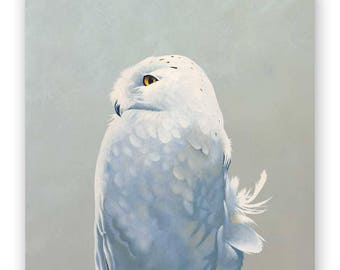Snowy Owl - 10 x 10 Wings on Wood Decor
