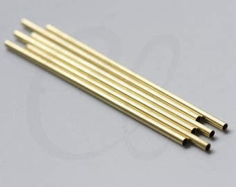 30 Pieces Raw Brass Tube 2x50mm with ID 1.6mm  (3412C-L-190)