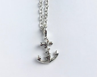 Anchor Sterling Silver Pendant-Small