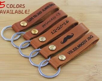 Custom leather keychain, Latitude longitude keychain, coordinates keychain, destination keychain, custom keychain, anniversary, wedding