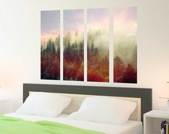 Mystic Forest Multi-Panel Wall Decal - Scenic Wall Decal by Chromantics
