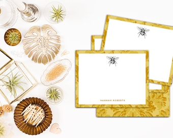 Bumblebee Note Cards // Personalized Thank You Notes // Custom Stationery, Custom Stationary // Bee Stationery, Bee Stationary // Bee Cards