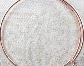 1 or 3 Bracelets, Charm Bracelet, Adjustable Bracelet, Rose Gold Bracelet, Expandable Bracelet, Adjustable Bangle, Bracelets, FIN006RG