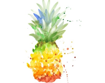 Pineapple Original Watercolour Painting 64