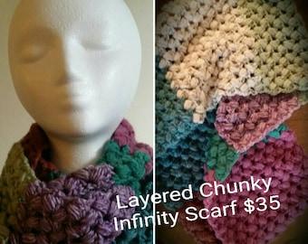 Chunky Layered Infinity Scarf