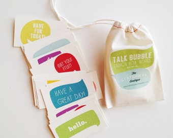Talk Bubble Lunch Box Notes // Set of 40
