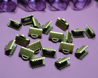 Bronze color 10x8mm claw clasps.