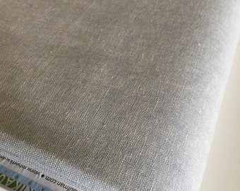 Essex Linen, Essex Yarn Dyed, Apparel Fabric, Quilt fabric, Cotton fabric, Blue Fabric, Linen fabric, Robert Kaufman, Essex in Chambray