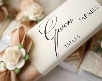 Wedding Place Cards, milk chocolate, chocolate wedding gift, dinner party place cards