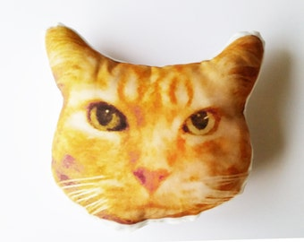 Personalized Cat Photo Pillow, Pet Lover Gift, Custom Cat Face Pillow, Kitten Face Pillow, Cat lover Gift, Custom Pillow, Mother's Day Gift