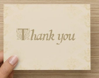 Folded story book themed thank you cards