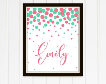 Confetti Personalized Printable Emily Collection
