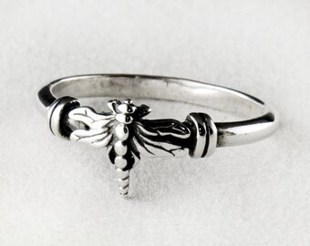 Dragonfly Sterling Silver Ring