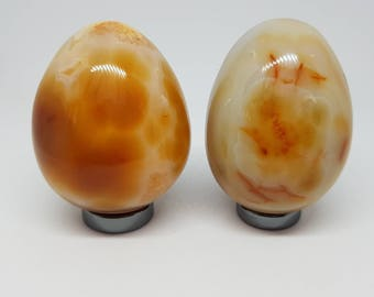 Carnelian stone carved egg.