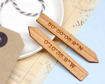 Coordinate Collar Stays, Personalized Wooden Collar Stiffener, Coordinate Collar Stays, 5th Anniversary Gift, Coordinate Collar Stiffeners