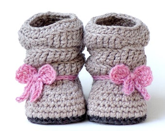 Crochet Pattern # 217 Baby Slouch Boot - Mia Boot -  Instant Download - PDF - Slouchy  kc550
