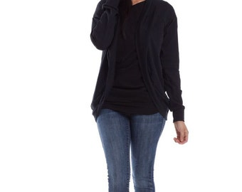 Cocoon Sweater - Curved Open Jacket Cardigan