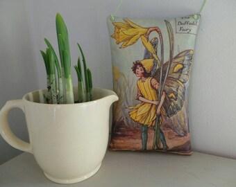 Daffodil Flower Fairy gift - flower nursery - lavender gift - flower fairies - Cicely Mary Barker - girls room decor - fairies gift