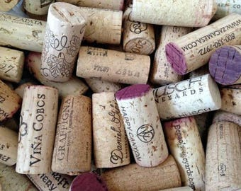 50 Wine Corks, Used Wine Corks, All Natural Corks, Recycled Wine Corks, Wine Wedding Theme, Used Corks, Real Corks, 100% Natural Corks
