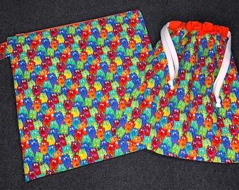 Wet and Dry Bag Set - Rainbow Kitties
