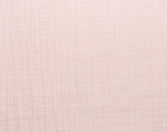 Double Gauze Baby Pink Solid Embrace  by Shannon Fabrics Blush Swaddle Blanket Fabric