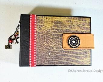 World Traveler 5x7 Mini Scrapbook Album