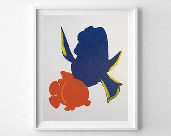 Nemo and Dori - Hand Painted Canvas Art