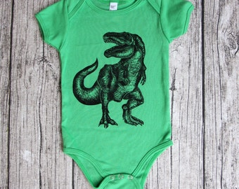 T-Rex baby bodysuit - unique baby clothes - baby bodysuit - baby gift ideas - one piece baby - infant clothing - baby shower gift - baby boy