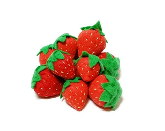 Strawberry - fresh and felt! eco-friendly felt play foods - washable and durable!