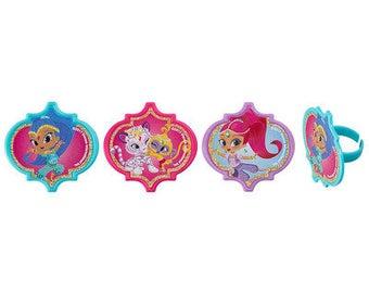 Shimmer & Shine Make a Wish Cupcake Rings - 24 Rings