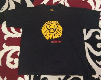 vintage lion king t shirt by disney size L for kids