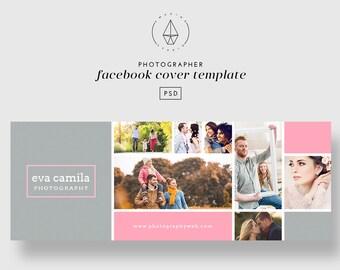 Facebook Cover Template, Facebook Template, Facebook Banner, Facebook Cover Photographer, Photoshop Template, PSD, Photographer Template
