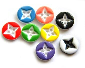 10 Assorted Star Buttons