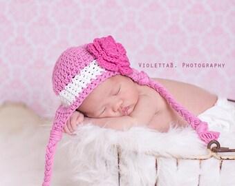 newborn girl hat, baby hat, newborn hat, girls hat, crochet kids hat, baby girl hat, crochet  baby girl winter hat, girls winter hat