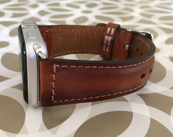 Apple Watch Band 38mm Leather Apple watch Strap iwatch band Personalized Gift Leather Anniversary Gift for Men Fathers Day Gift for Dad