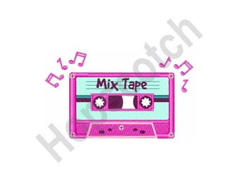 Mix Tape - Machine Embroidery Design