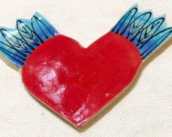 Flying Heart Handmade Mosaic Tile