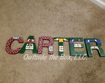 TMNT wall letter