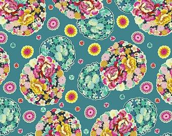 COTTON POPLIN - Amy Butler - Night Music - Cloud Blossom - Turquoise