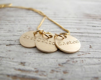 Personalized Gold Mother's Necklace, Family Jewelry, Grandmother's Necklace, Kids Names Necklace, Grandchildren, Mother's Day Gift, For Her