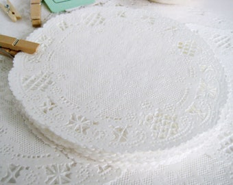 100 White Paper Doily Doilies 6 inch