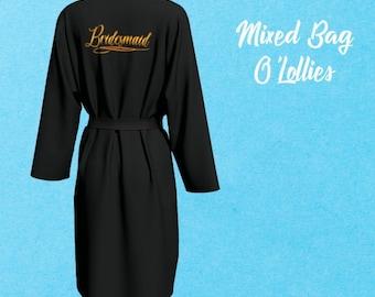 Bridesmaid Robes, Bridesmaid Gift, Peignoir, Getting ready Robe, Wedding day robe,Dressing Gown,Chiffon Robe,Wedding Gift,Bath Robe