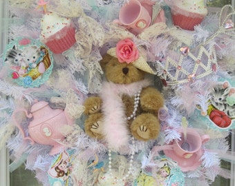 Shabby Tea Party Wreath
