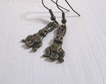 Kleine Hasen Ohrringe vintage Osterhasen