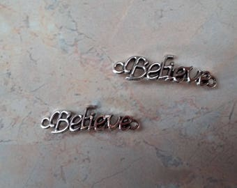 """Believe"" connectors, ""believe"" silver plated new"