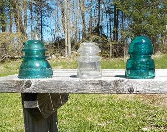 glass insulator- 3 insulators for one price